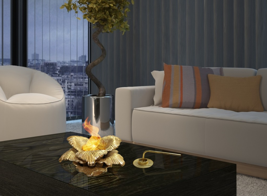 Anywhere Fireplace Indoor/Outdoor Fireplace - Chatsworth (Gold) - Anywhere Fireplace 90223