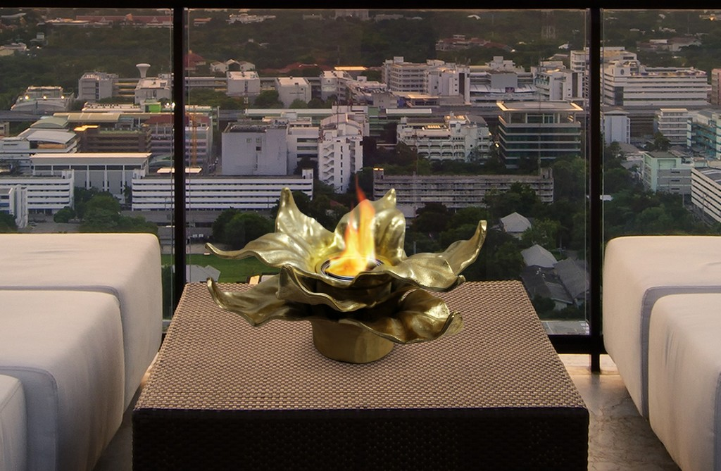 Anywhere Fireplace Indoor/Outdoor Fireplace - Heathcote (Gold) - Anywhere Fireplace 90224