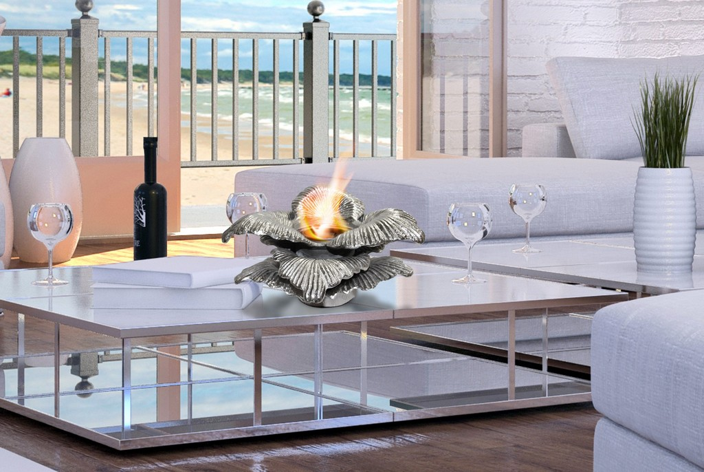 Anywhere Fireplace Indoor/Outdoor Fireplace - Chatsworth (Silver) - Anywhere Fireplace 90225