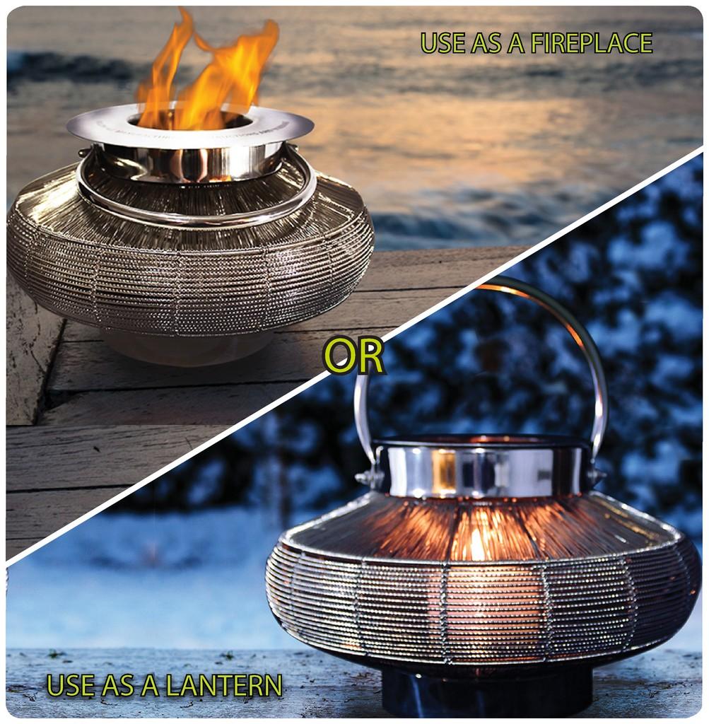 "Anywhere Fireplace ""Mercury"" 2 in 1 Fireplace/Lantern - Anywhere Fireplace 90236"