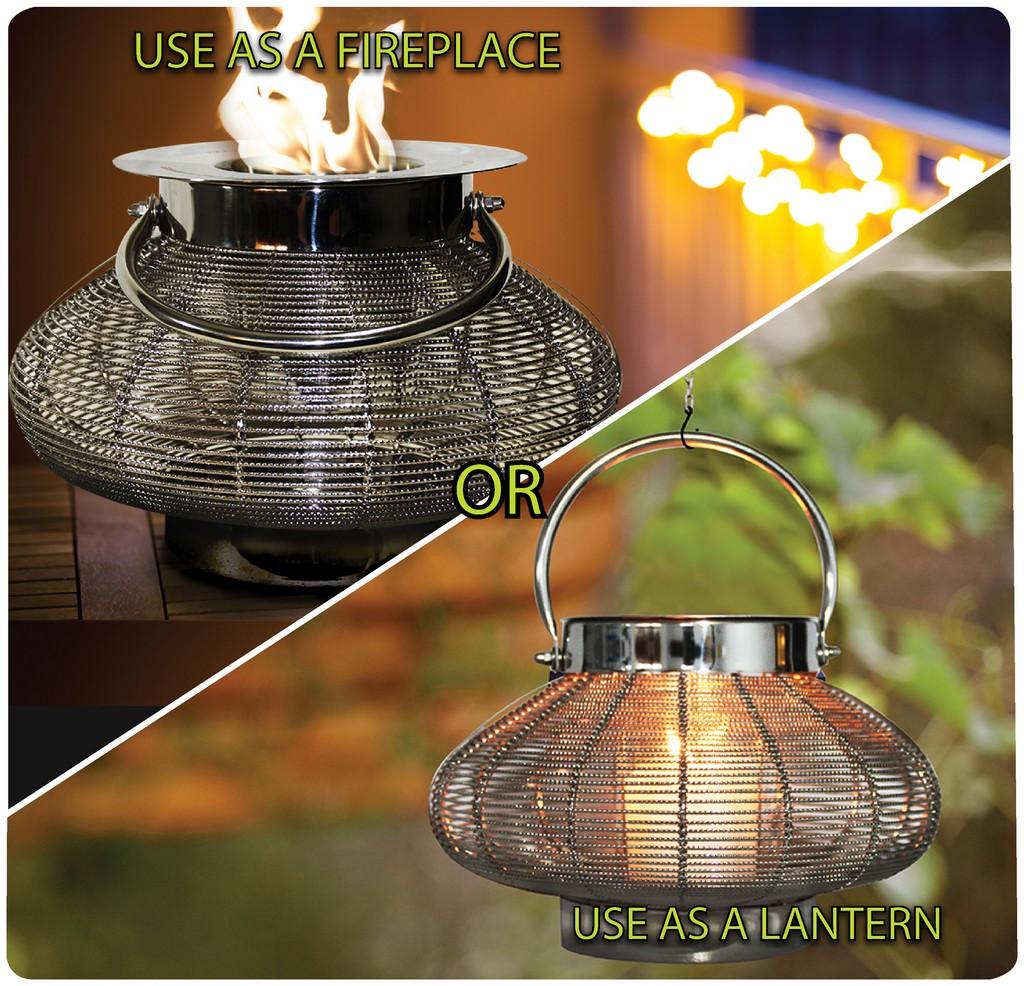 "Anywhere Fireplace ""Venus"" 2 in 1 Fireplace/Lantern - Anywhere Fireplace 90239"