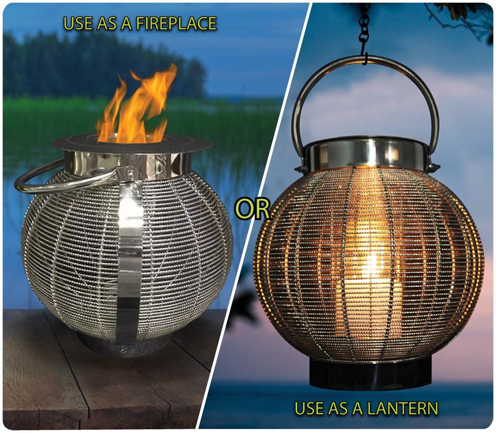 "Anywhere Fireplace ""Jupiter"" 2 in 1 Fireplace/Lantern - Anywhere Fireplace 90240"