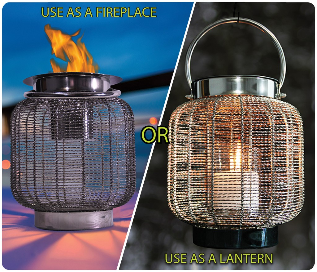 """Anywhere Fireplace """"Neptune"""" 2 in 1 Fireplace/Lantern - Anywhere Fireplace 90241"""