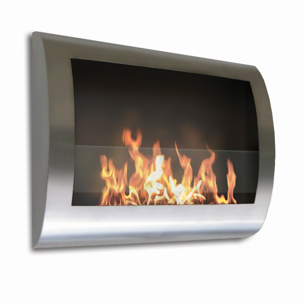 Anywhere Fireplace Indoor Wall Mount Fireplace - Chelsea Model Stainless Steel - Anywhere Fireplace 90298