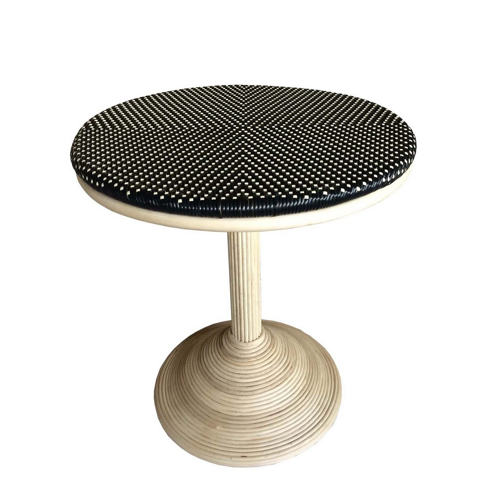 French Bistro Table - Black/Beige - Padma