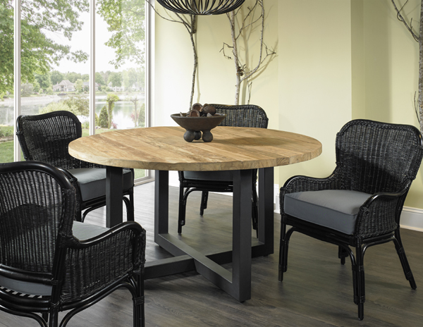 GIORGIA RECLAIMED TEAK DINING TABLE - 59 - Padma