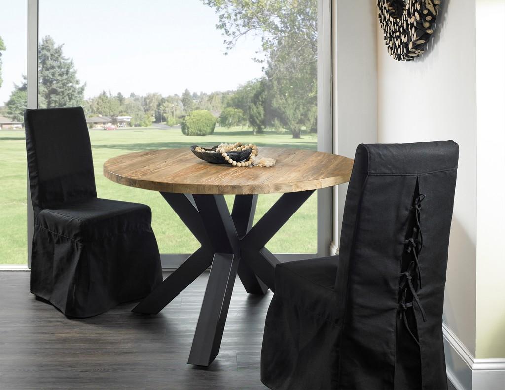 GIULIA RECLAIMED TEAK DINING TABLE - 48 - Padma
