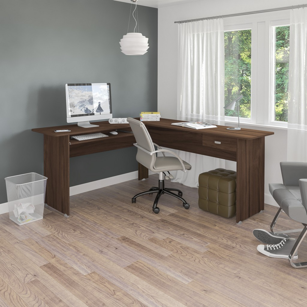 Columbia Desk Walnut in Walnut - Bertolini 4193