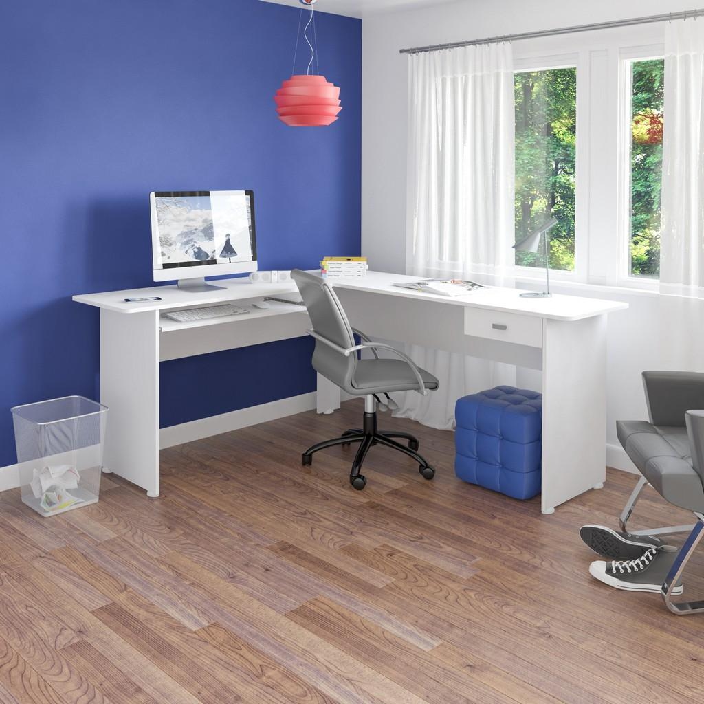 Columbia Desk White in White - Bertolini 4192