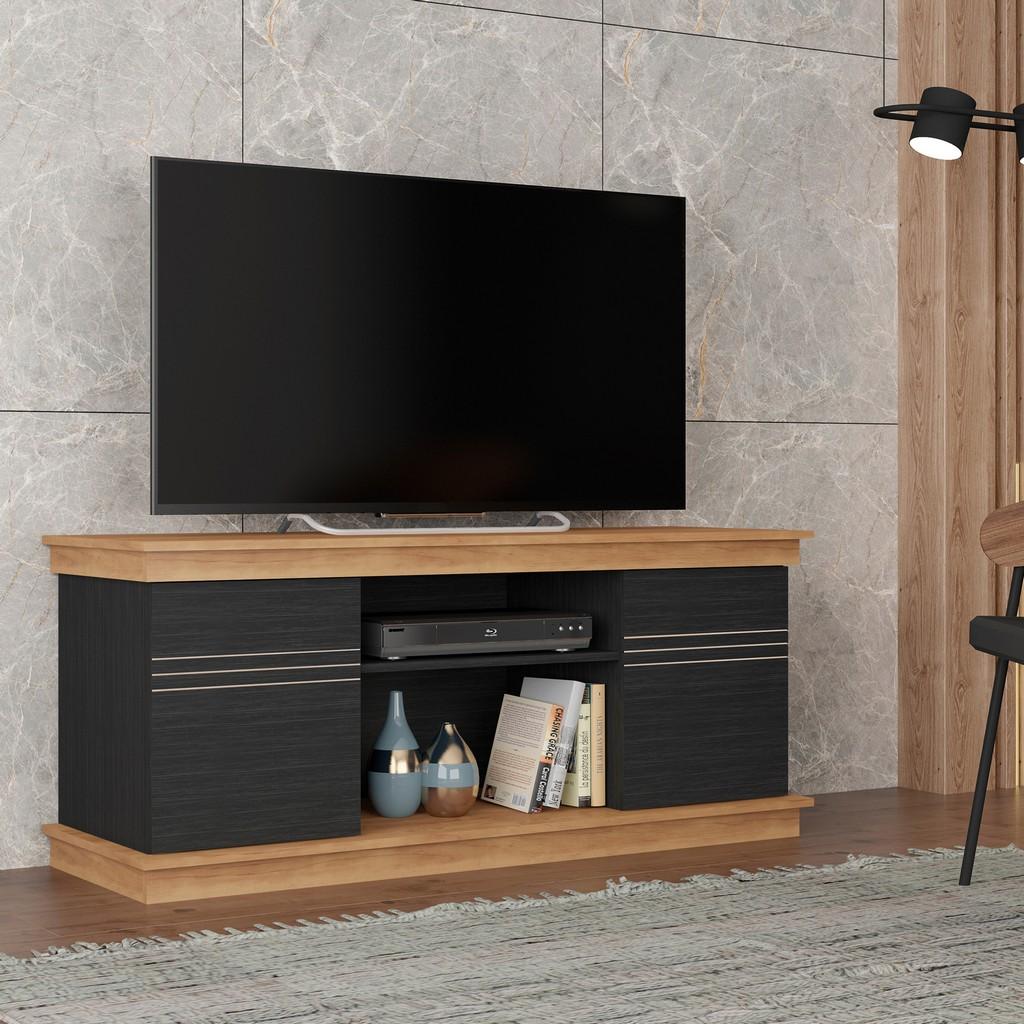 TV Stand ALEC Buriti / Black in Black / Buriti - Bertolini F.90003.355