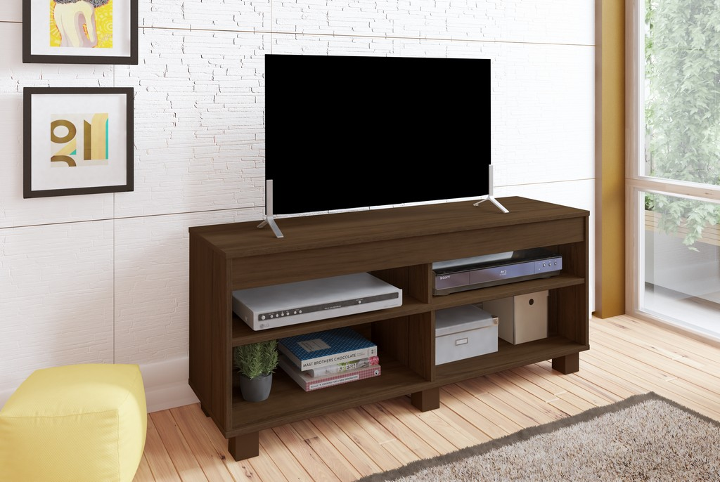 Kansas TV Stand in Almond/Off White - Bertolini 4086
