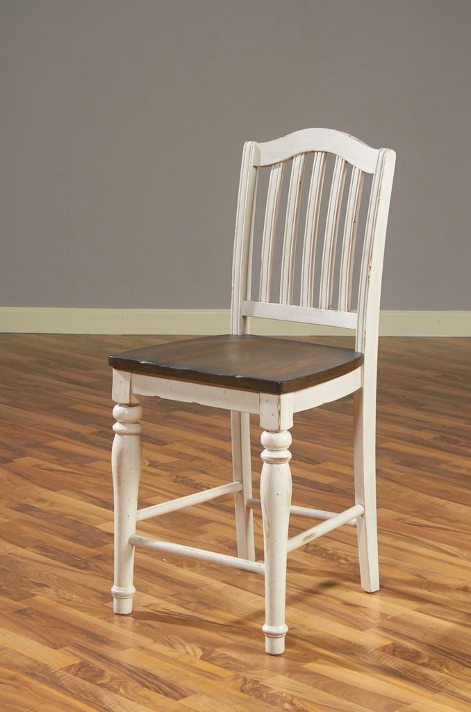 Bourbon County Slatback Stool - Sunny Designs 1431FC-24W