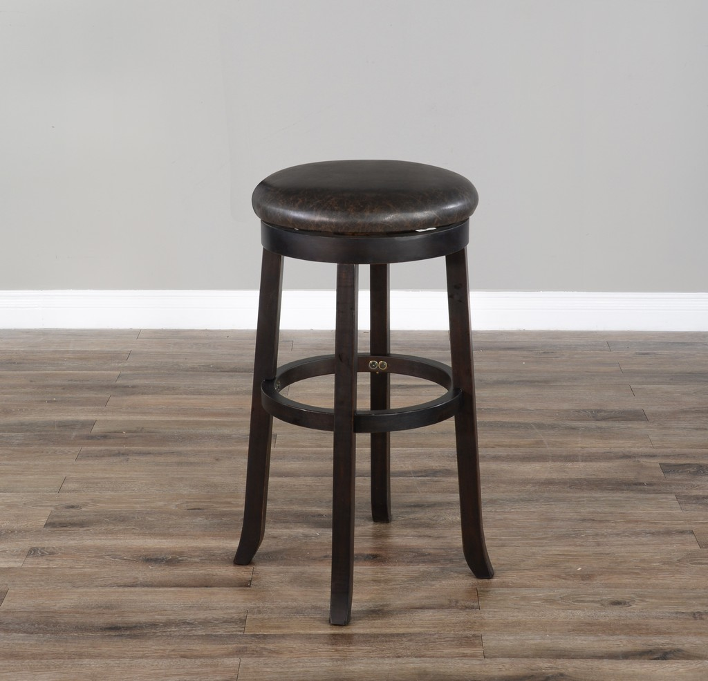 "30""H Swivel Stool, Cushion Seat - Sunny Designs 1646BW-30"