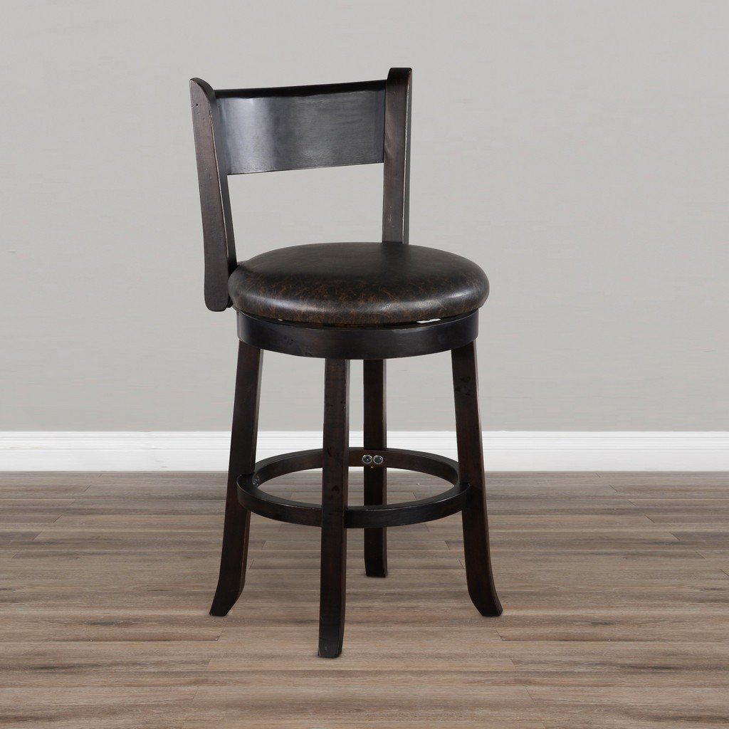 "24""H Swivel Barstool, Cushion Seat & Back - Sunny Designs 1646BW-B24"
