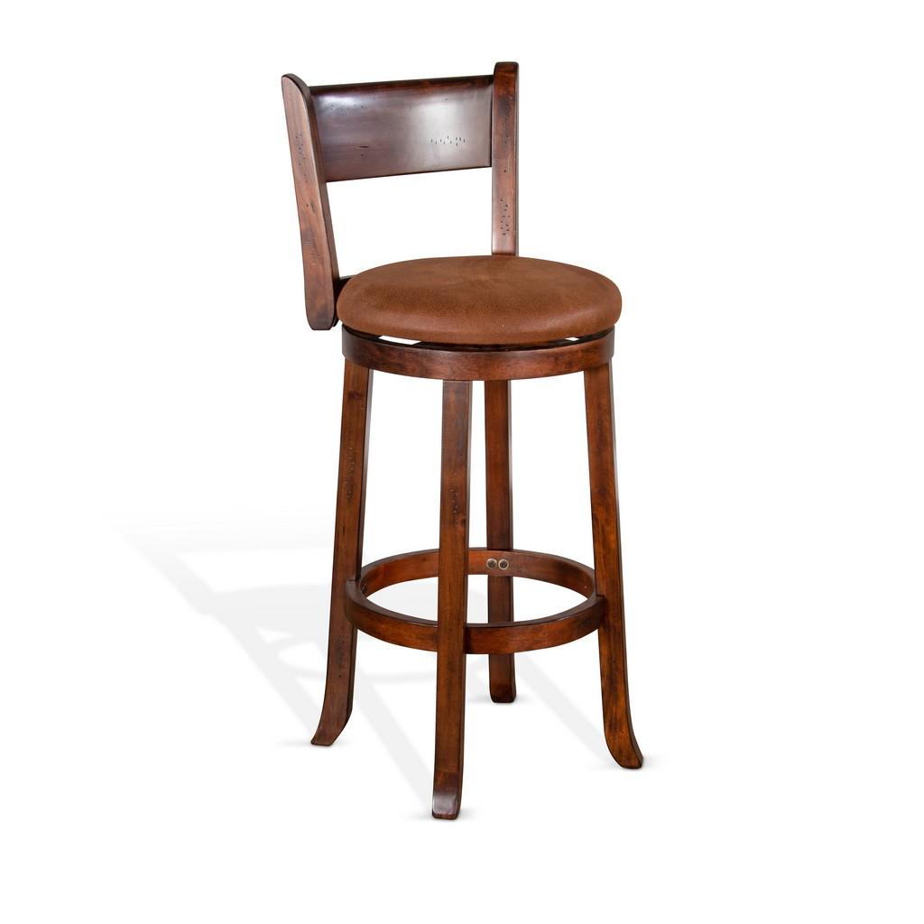 "30""H Swivel Barstool, Cushion Seat & Back - Sunny Designs 1646DC-B30"