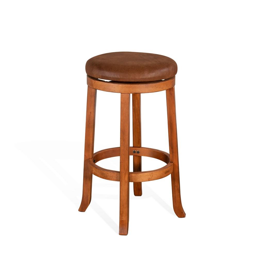 "30""H Swivel Stool, Cushion Seat - Sunny Designs 1646RO-30"