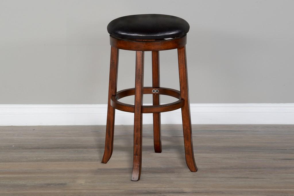 "30""H Swivel Stool, Cushion Seat - Sunny Designs 1646VM-30"