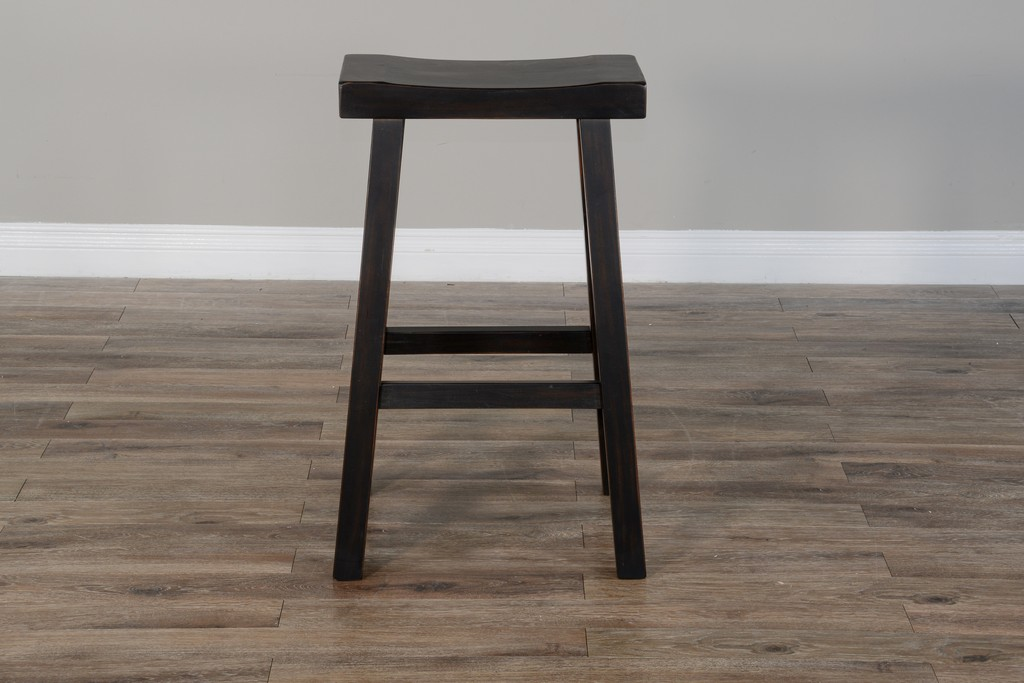 "30""H Saddle Seat Stool, Wood Seat - Sunny Designs 1768BW-30"