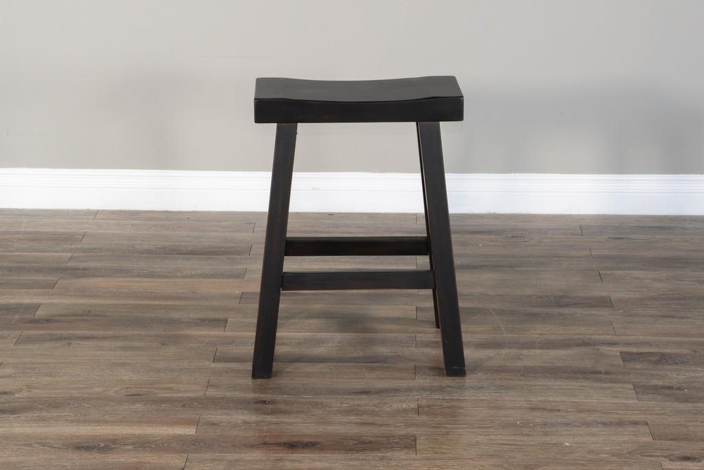 "24""H Saddle Seat Stool, Wood Seat - Sunny Designs 1768BW-24"