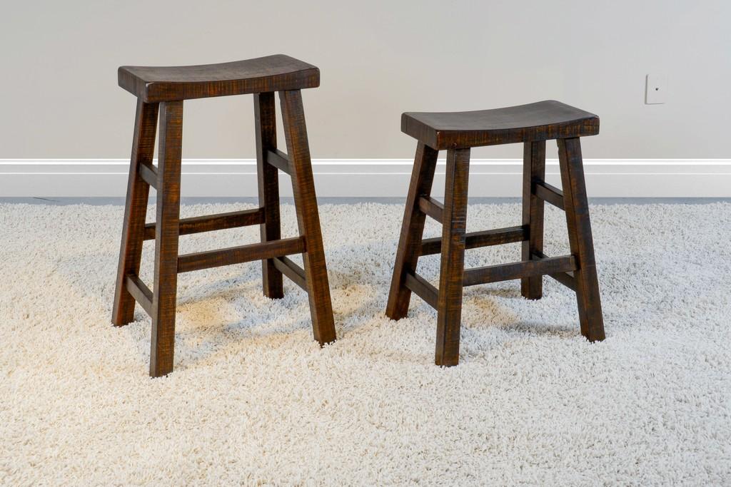 "30""H Saddle Seat Stool, Wood Seat - Sunny Designs 1768TL-30"