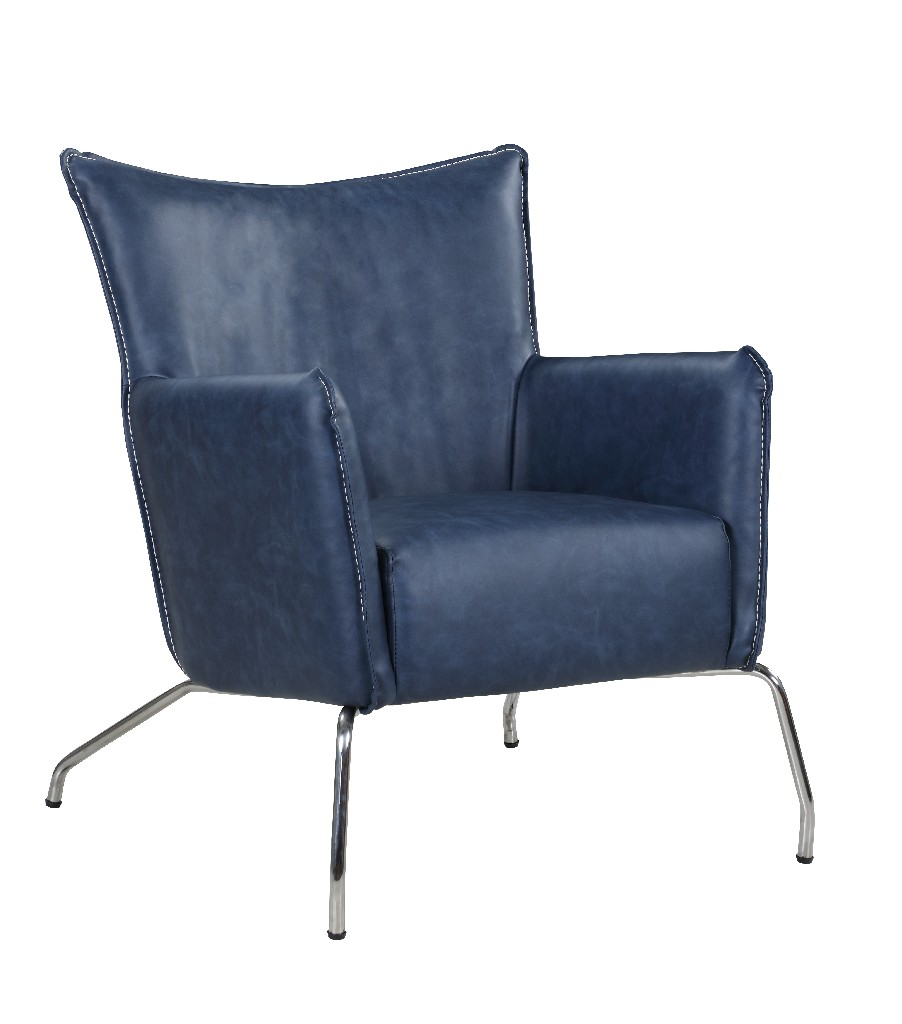 Chintaly Accent Chair w/ Steel Frame 2008-ACC-BLU