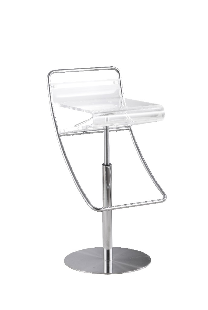 Chintaly Acrylic Adjustable Height Stool 4080-AS-CLR