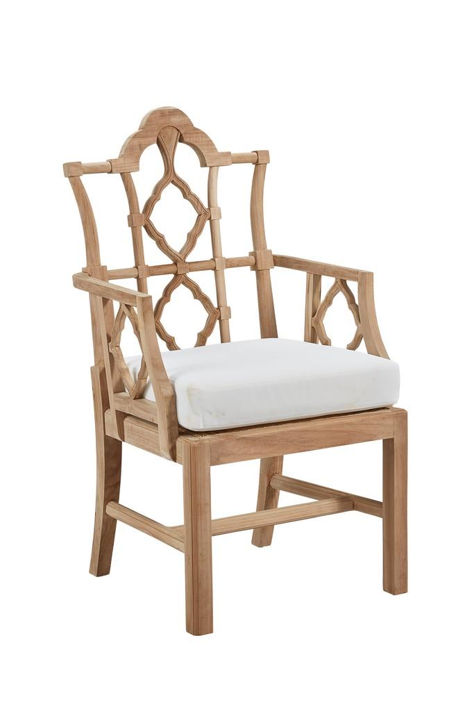 Italian Arm Chair Unfinished Teak - Furniture Classics 1965UNF