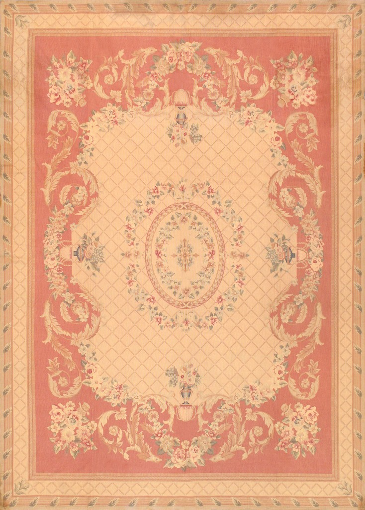 Abusson Collection Hand-Knotted Wool Area Rug- 8