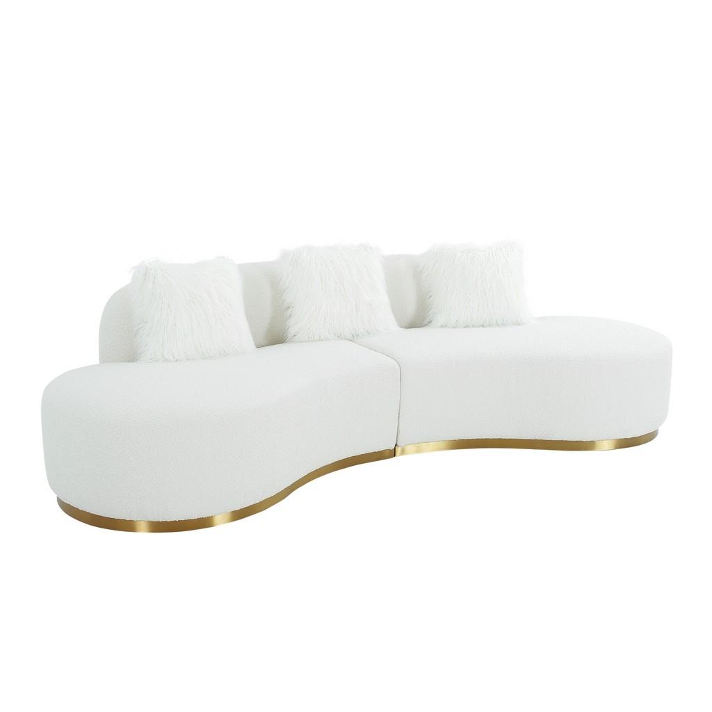 Simona Modern Curved Sofa Pillow