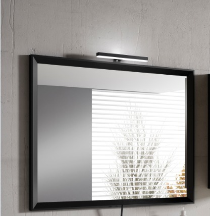 "24"" Black Decor Mirror - Lucena Bath 2531"