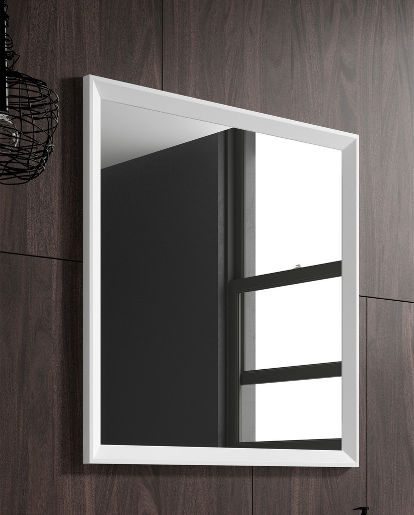 "40"" white Decor mirror - Lucena Bath 2542"