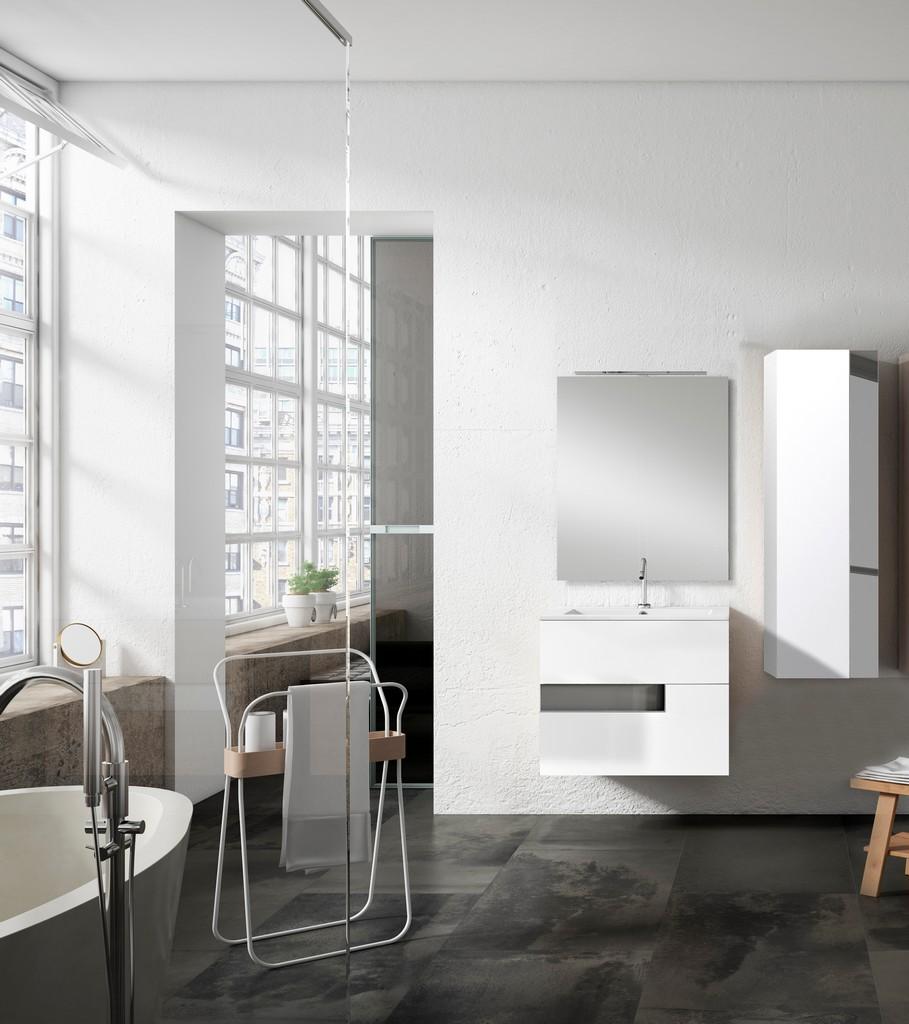 "24"" White and Grey Vision Vanity - Lucena Bath 3062-01/grey"