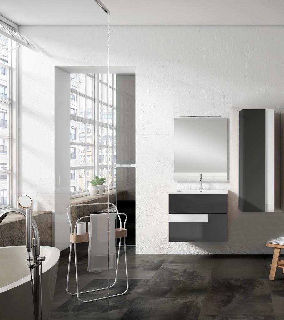 "24"" Grey and White Vision Vanity - Lucena Bath 3062-04/white"