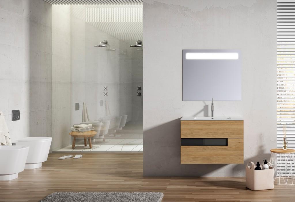 "32"" Canela and Black Vision Vanity - Lucena Bath 3068"