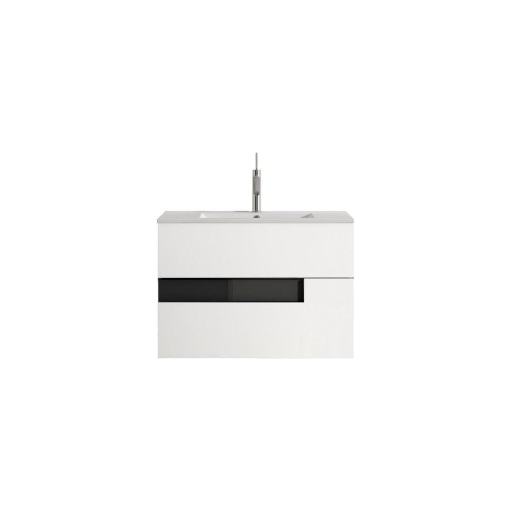 "32"" White and Black Vision Vanity - Lucena Bath 3069-01/black"