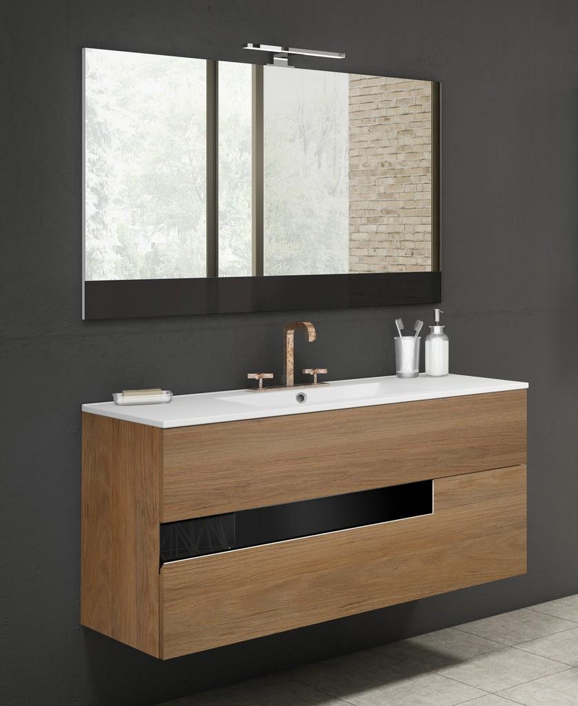 "40"" Canela and Black Vision Vanity - Lucena Bath 3075"