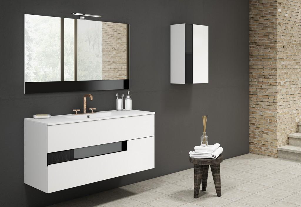 "40"" White and Black Vision Vanity - Lucena Bath 3076-01/black"
