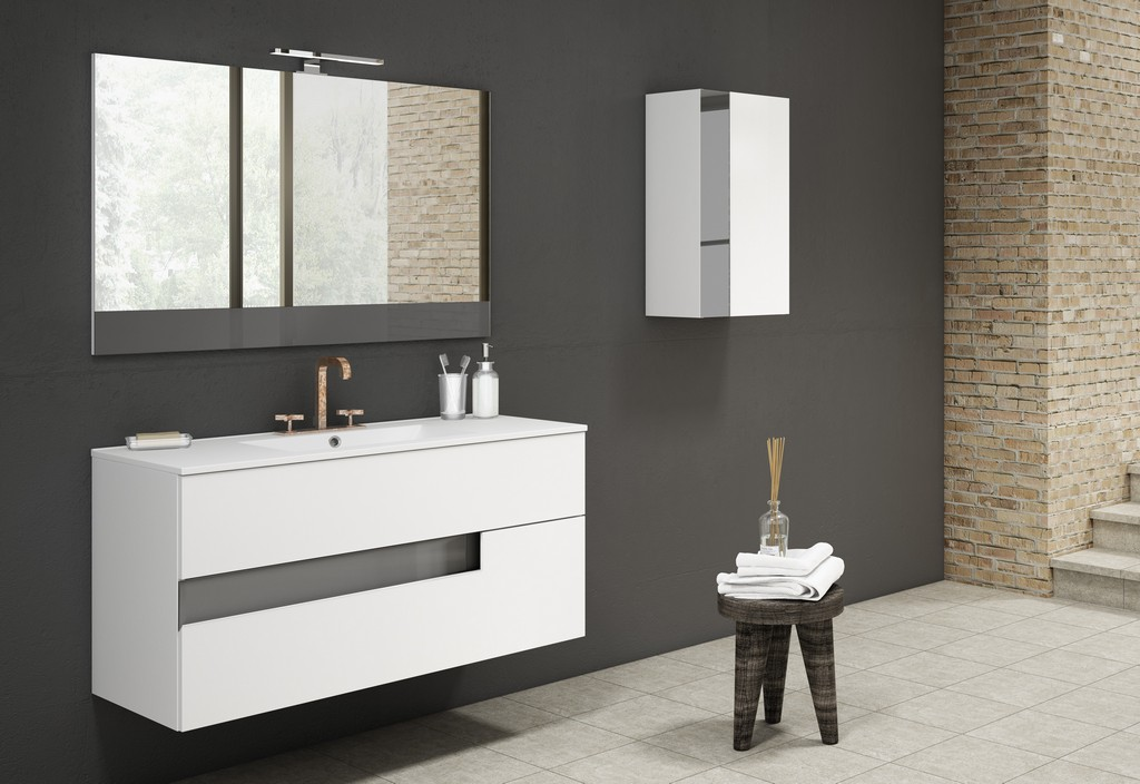 "40"" White and Grey Vision Vanity - Lucena Bath 3076-01/grey"
