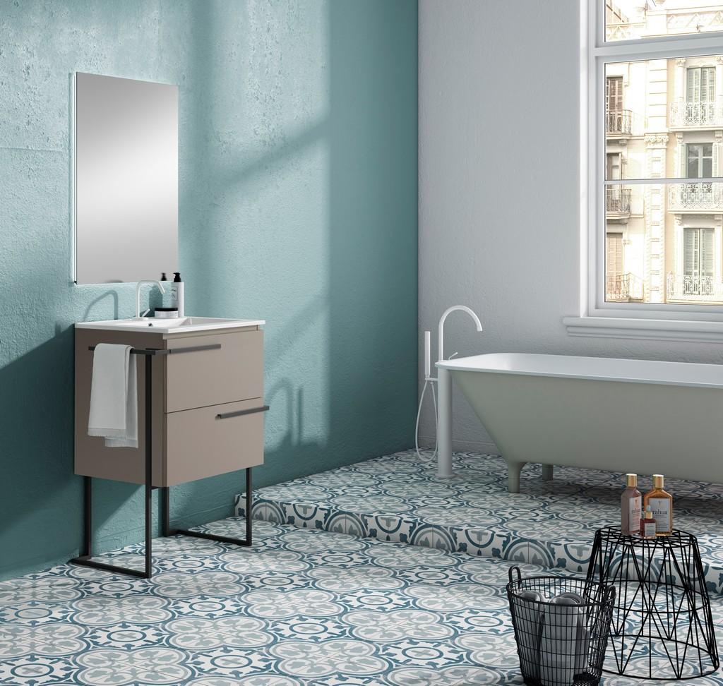 "24"" Quarzo Scala Vanity with Legs and Towel Bar - Lucena Bath 3878LTB"