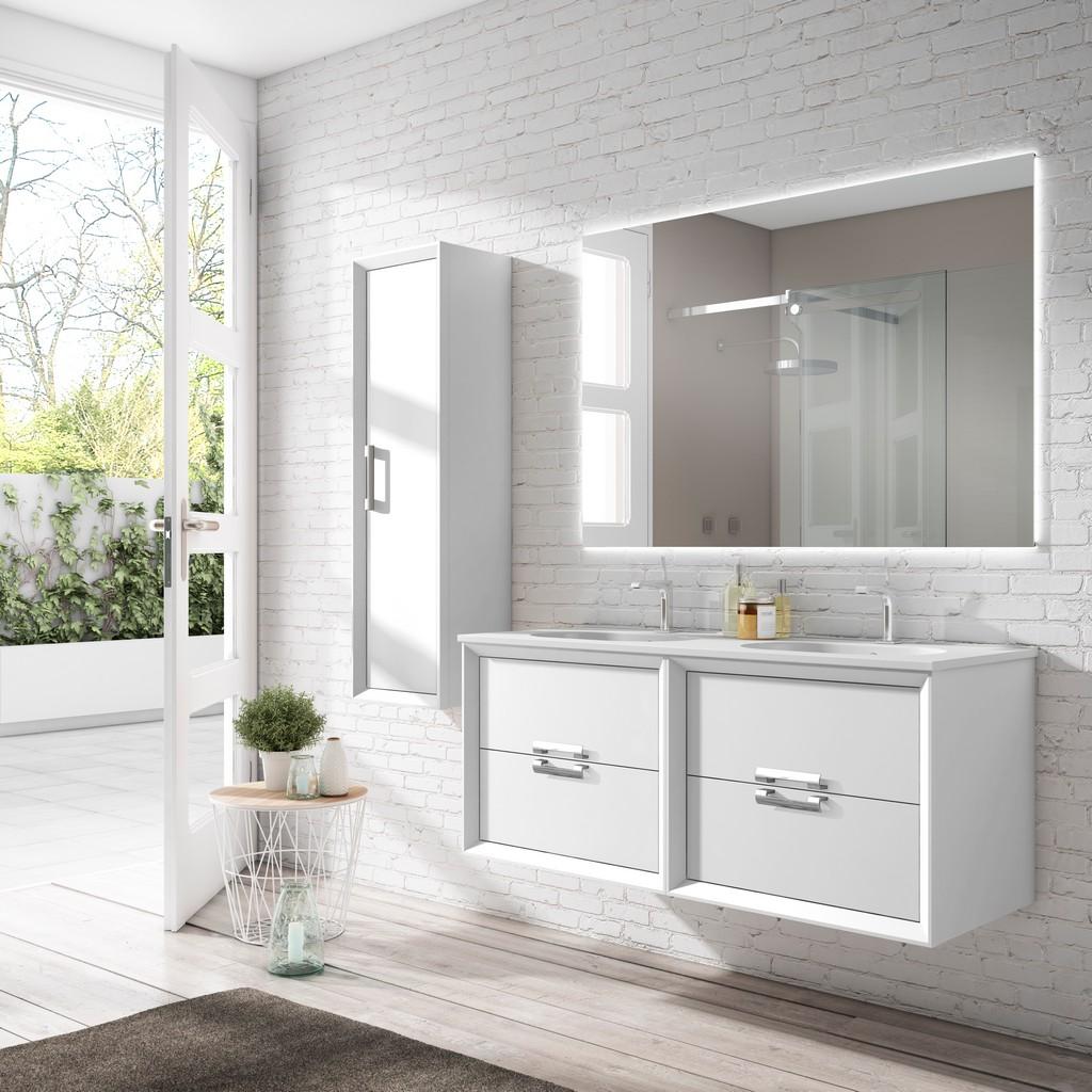 """48"""" White Decor Tirador double Vanity - Lucena Bath 42472"""