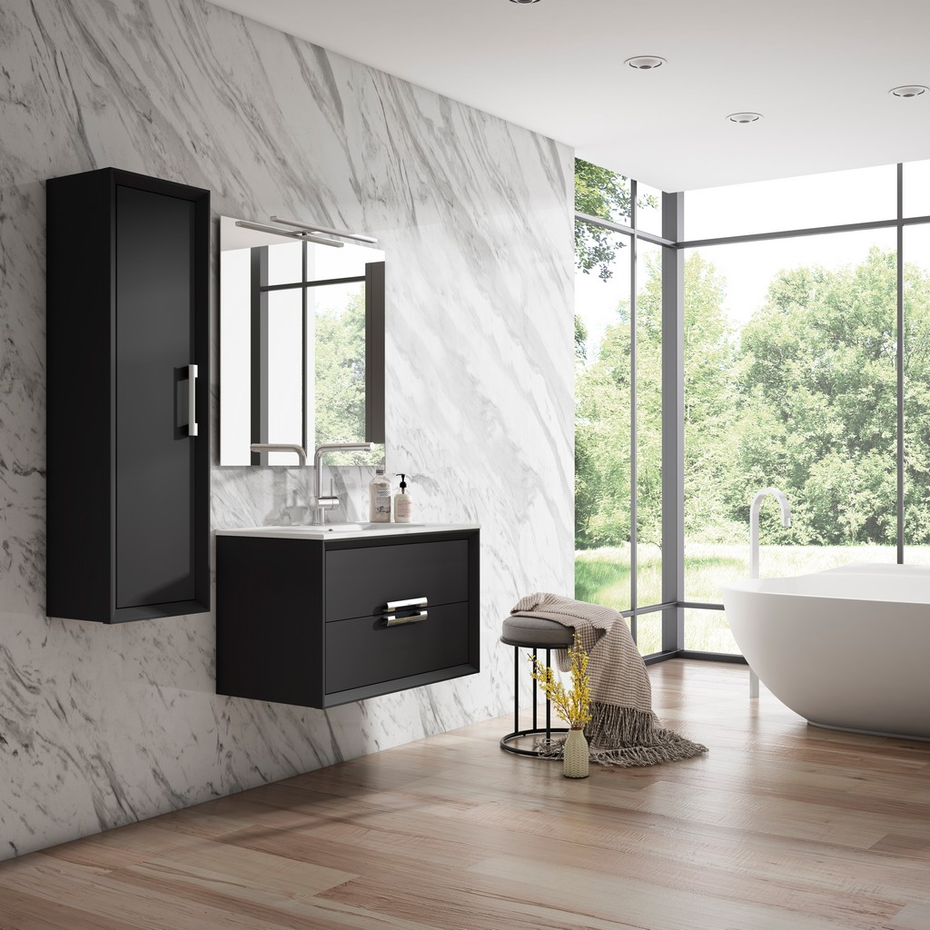 "24"" Black Decor Tirador Vanity - Lucena Bath 4248"