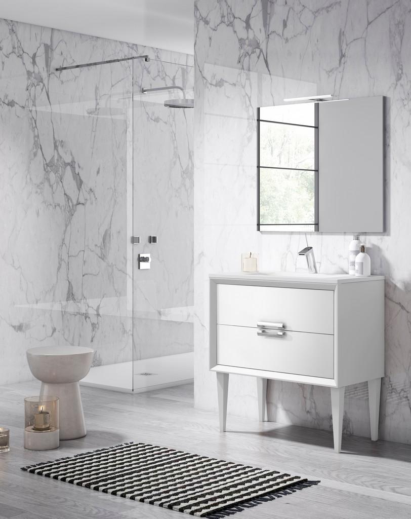 "32"" White Decor Tirador Freestanding Vanity - Lucena Bath 42541"