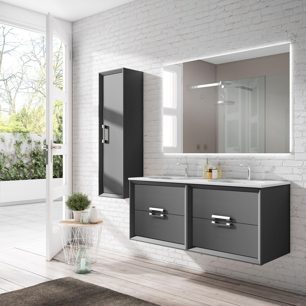 "64"" Grey Decor Tirador double Vanity - Lucena Bath 42592"