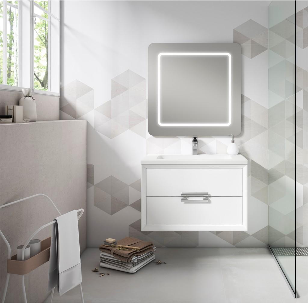 "40"" White Decor Tirador Vanity - Lucena Bath 4261"