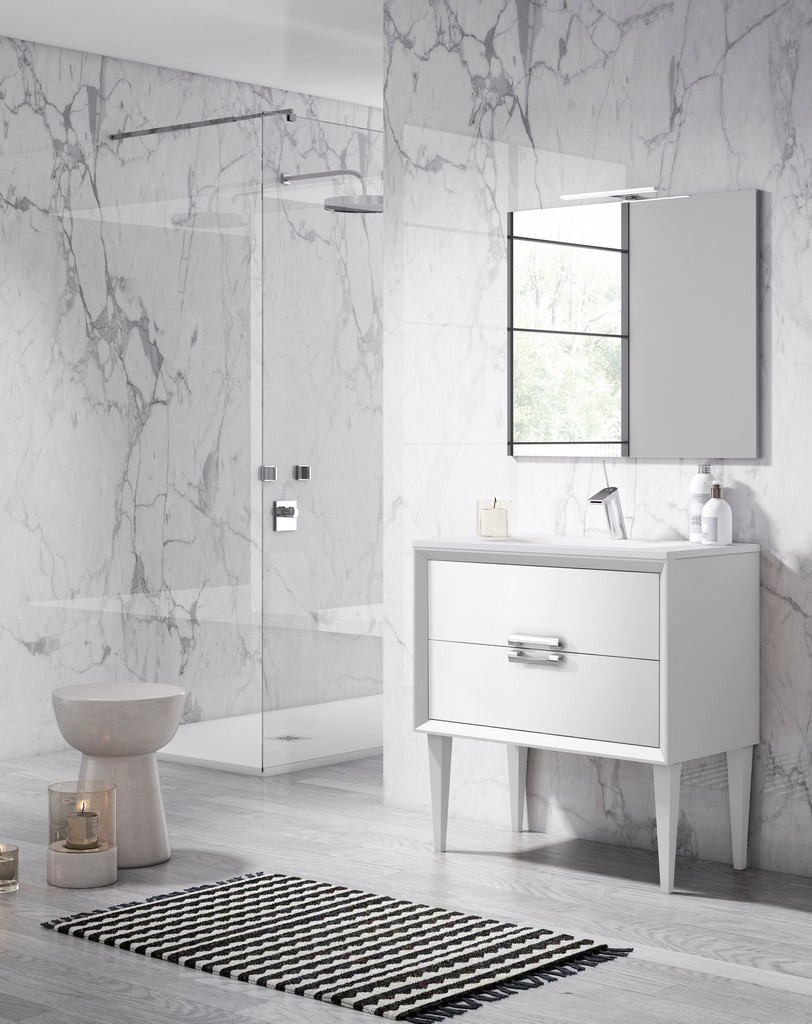 "40"" White Decor Tirador Freestanding Vanity - Lucena Bath 42611"