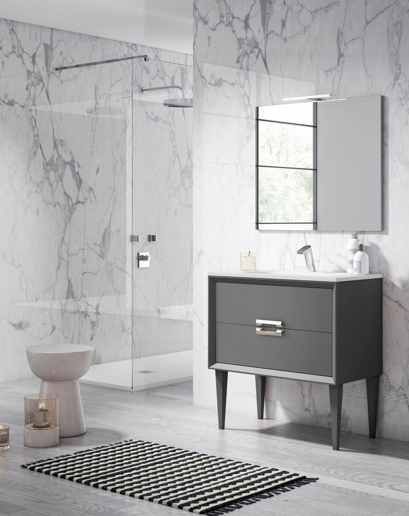 "40"" Grey Decor Tirador Freestanding Vanity - Lucena Bath 42661"