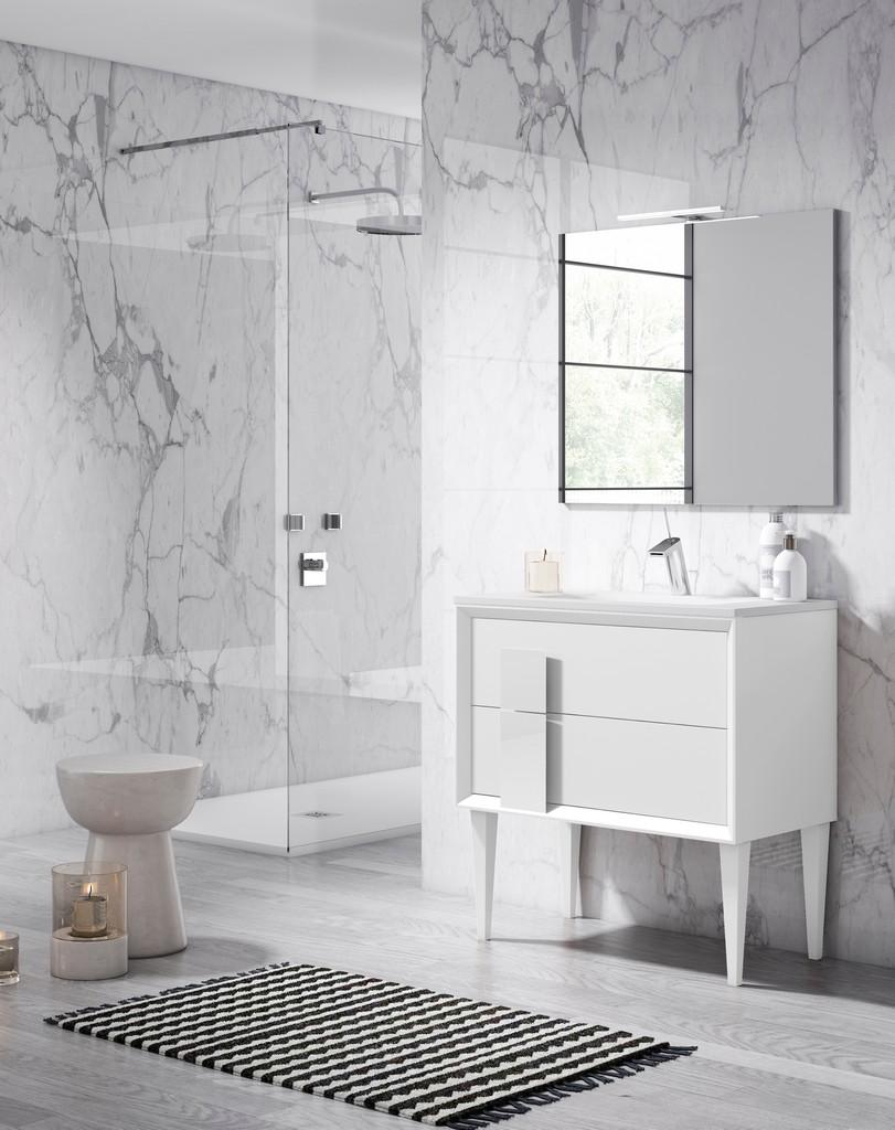 "24"" White Decor Cristal Freestanding Vanity - Lucena Bath 42981"