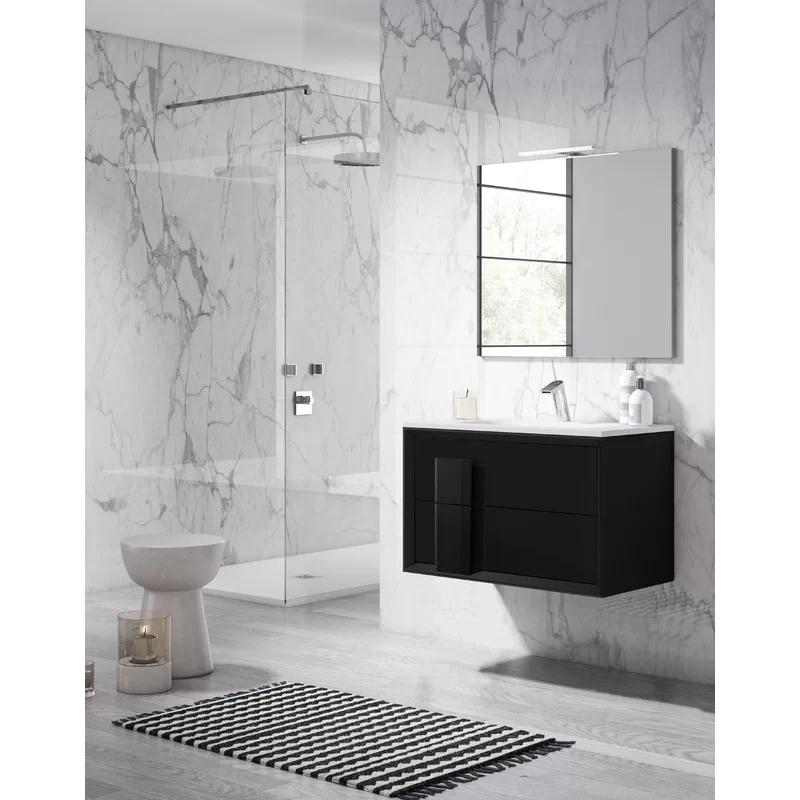 "24"" Bkack Decor Cristal Vanity - Lucena Bath 4299"