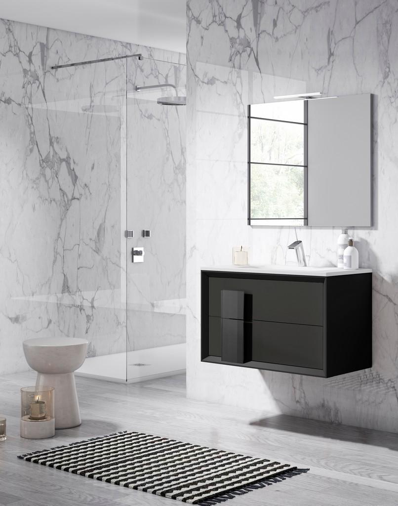"24"" Grey Cristal Vanity - Lucena Bath 4303"