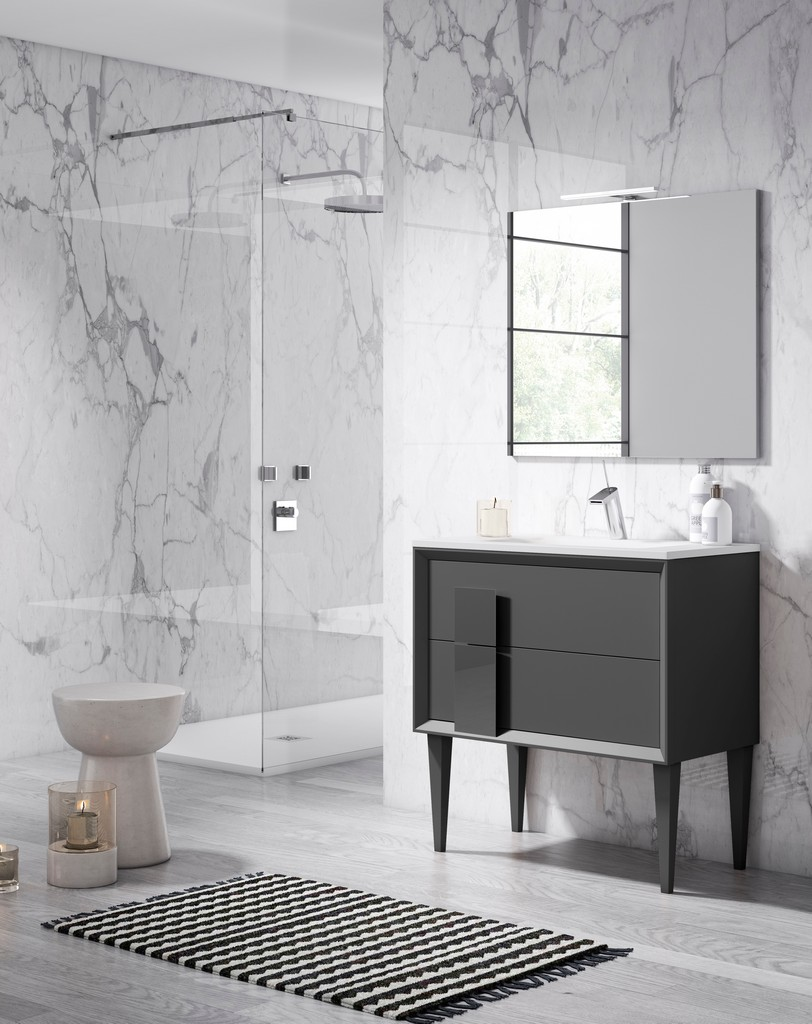 "24"" Grey Cristal Freestanding Vanity - Lucena Bath 43031"